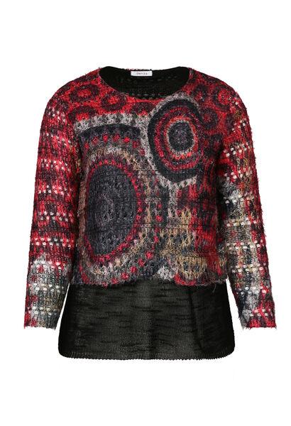 Pullover mit 2-in-1-Effekt - Rot
