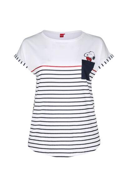 Matrosen-T-Shirt im Snoopy-Look - weiß