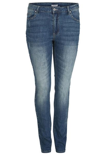 Slim-Fit-Jeans mit Nieten-Details - Denim