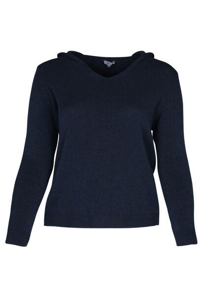 Pullover mit Kapuze - Marine