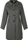 Mantel aus Jacquard-Strick mit Bubikragen, Khaki