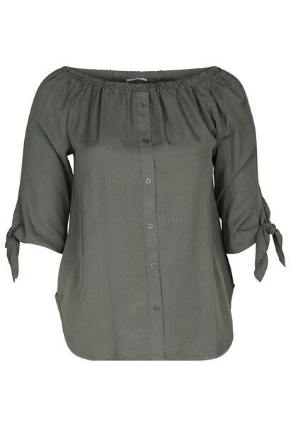 Bluse aus Lyocell - Khaki