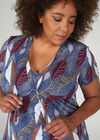 T-Shirt aus kühlem Material mit Krawattenkragen, Indigo