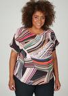 Weite Bluse mit geometrischem Print, Multicolor