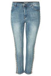 Jeans mit Ethno-Streifen