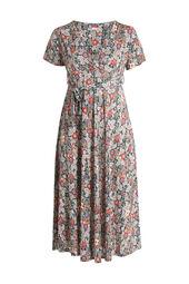 Langes Hemdkleid mit Blumen-Print