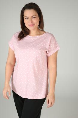 Pyjama-Shirt mit Herzchen-Print, Rosa
