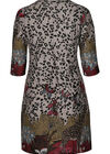 Tunika-Kleid mit Safari-Print, Bordeaux