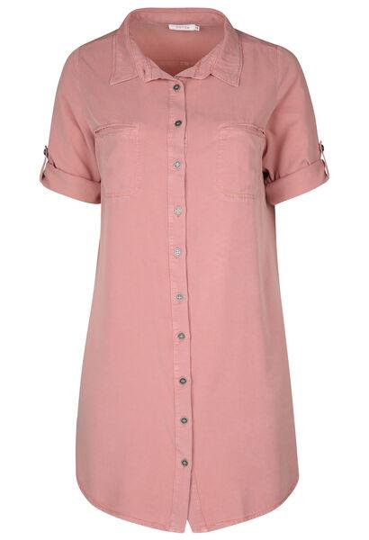 Hemdkleid aus Lyocell - Alte Rosa