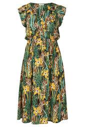 Kleid mit attraktivem, tropischem Print