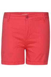 Shorts aus einfarbigem Baumwollstoff