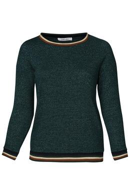 Pullover mit Sportswear-Streifen, Türkis dunkel
