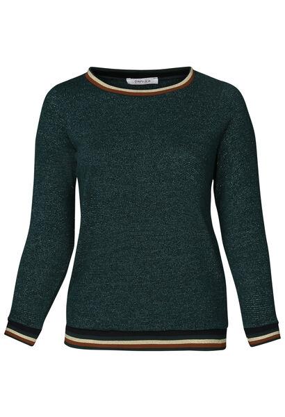 Pullover mit Sportswear-Streifen - Türkis dunkel