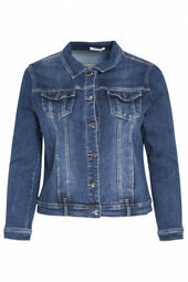 Jeans-Jacke in dunkler Waschung