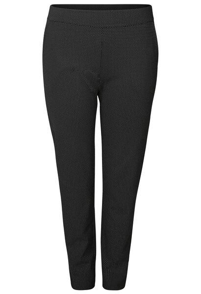 Hose aus Milano-Gewebe - Schwarz