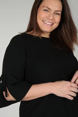 Pullover mit Bindebändern, Schwarz