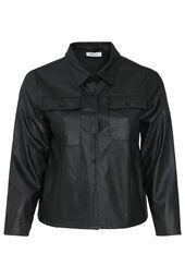 Kurze Jacke aus Lederimitat