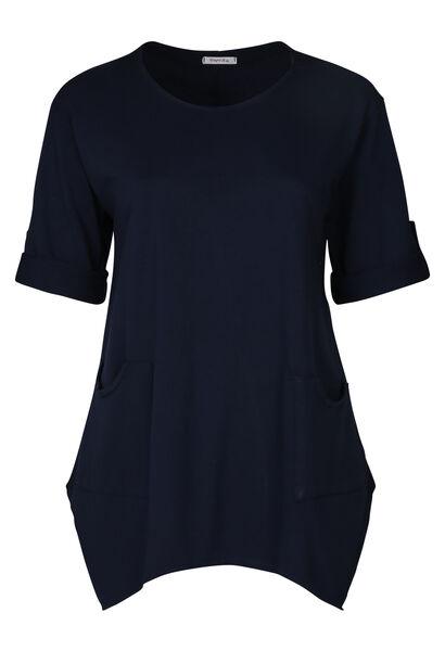 Tunika aus einfarbigem Sweatshirt-Stoff - Marine