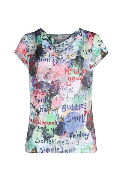 T-Shirt aus kühlem Material, bedruckt - Multicolor