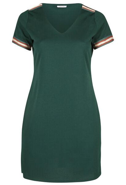 Kleid aus Krepp mit Lurex-Streifen - Dunkelgrün grün