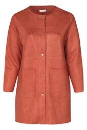 Langer Mantel aus Wildlederimitat