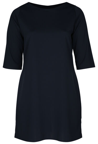 Kleid aus einfarbigem Krepp - Marine