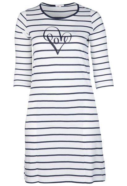 Nachthemd mit Love-Print - Marine