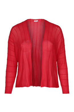Cardigan mit strukturierten Linien, Rot