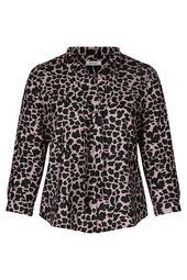 Schluppenbluse im Leopardenmuster