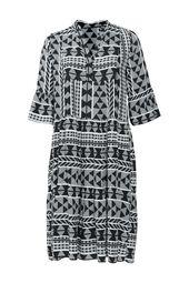 Viskose-Kleid mit Ethno-Print