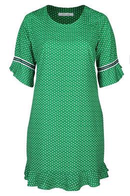 Kleid aus Kreppstoff mit Tupfendruck, Grün