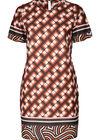 Kleid in entspannter Passform mit Muster-Mix, Orange