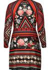 Kleid mit verschiedenen Ethno-Prints, Multicolor