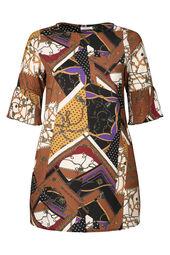 Kleid in entspannter Passform mit Ketten-Print