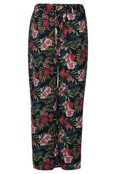 Weich fließende Hose mit Tropic-Print