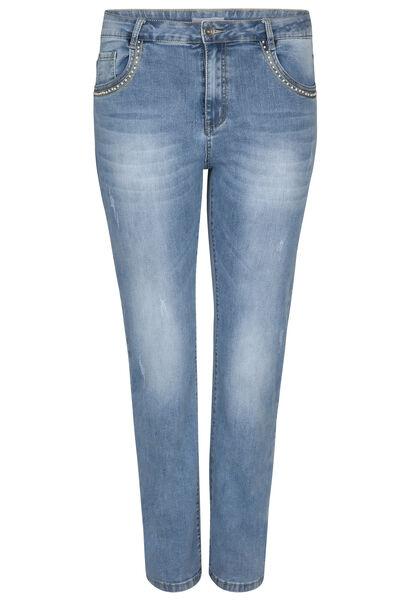 Jeans mit geradem Schnitt - Beinlange 30 - Denim