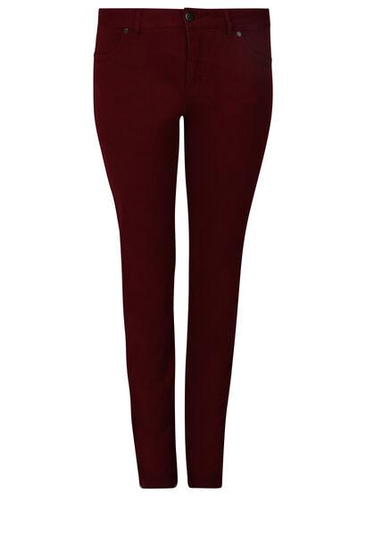Gerade geschnittene, extra-lange Hose – Länge 34 - Bordeaux