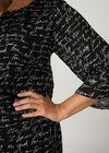 Bluse aus Voile mit Schrift-Print, Schwarz