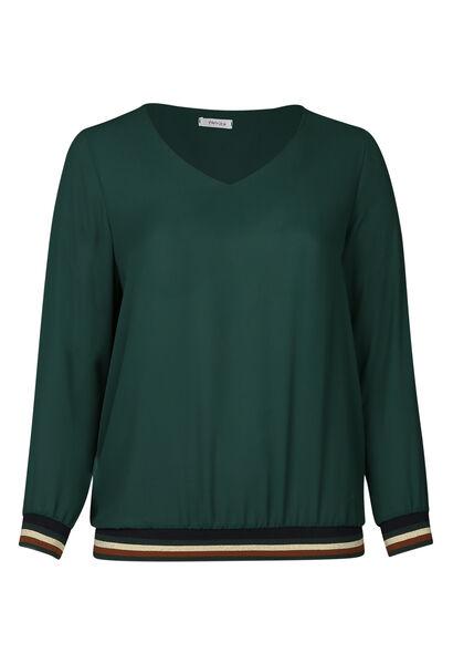 Bluse aus Voile mit Lurex-Streifen - Grün