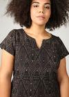 Kleid aus Jacquard-Gewebe, Schwarz