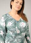 Pullover mit Tropic-Print, Grün