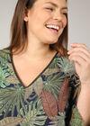 Bluse mit Palmblätter-Print, Grün