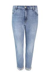 Slim-Fit-Jeans, Umschlag mit Gänseblümchenaufdruck