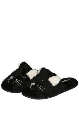 Hund-/Katzen-Pantoffeln, Schwarz