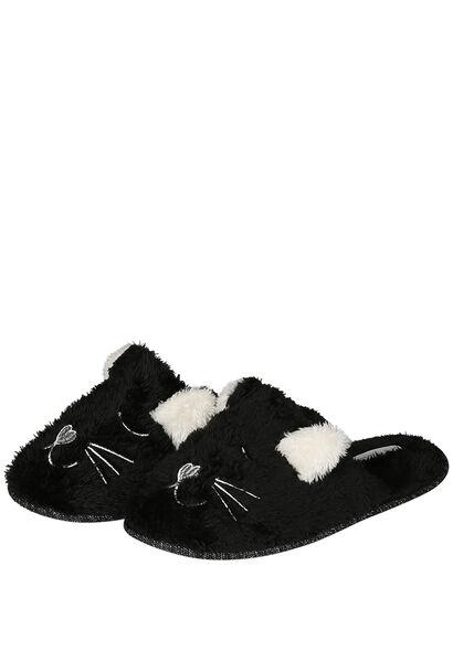 Hund-/Katzen-Pantoffeln - Schwarz