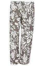 Weich fließende Hose mit geometrischem Blumen-Print
