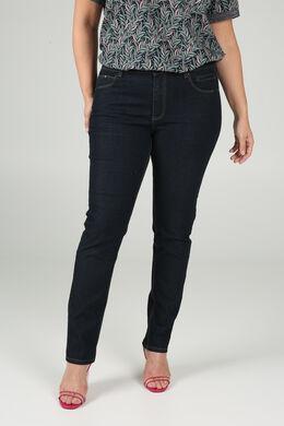 Jeans Slim mit Pailletten-Details, Denim