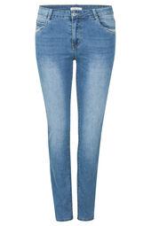 Slim-Fit-Jeans mit Pailletten-Details