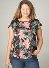 T-Shirt mit Satin-Effekt und Tropic-Print, Multicolor