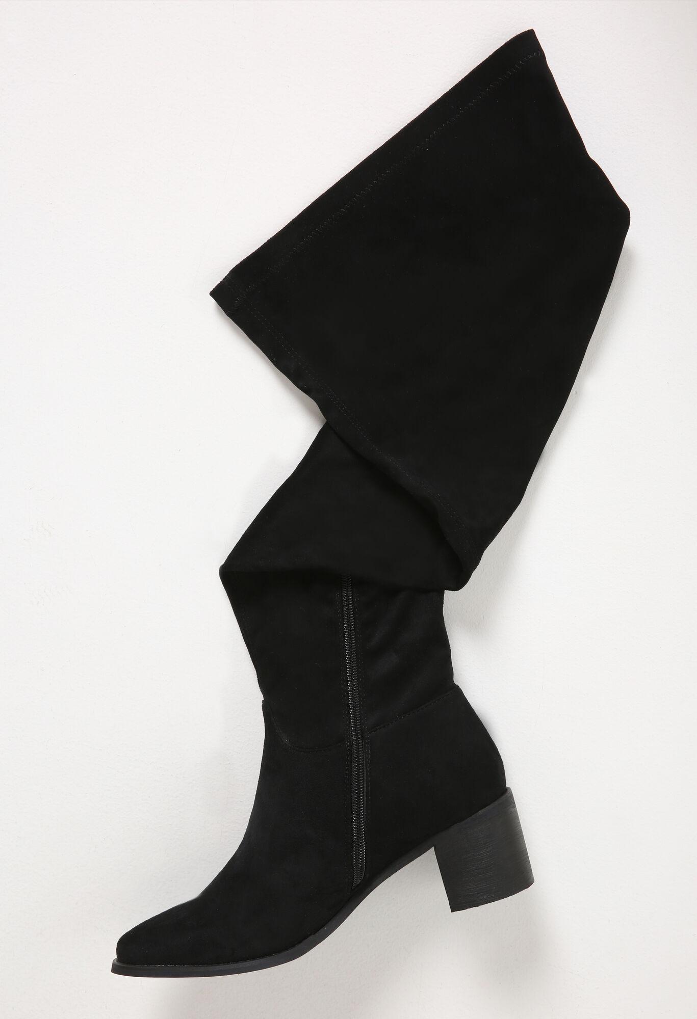 Overknee-Stiefel für kräftige Waden - Schwarz - Paprika
